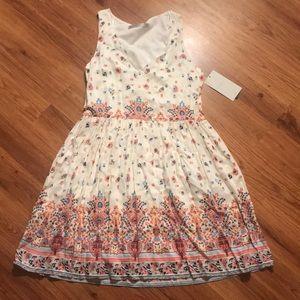 Zara white floral dress